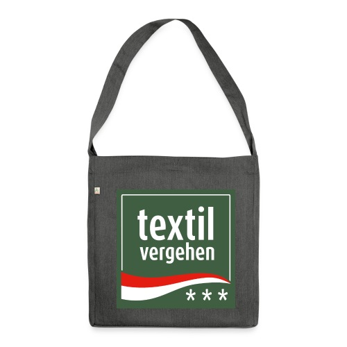 textilvergehen - Schultertasche - Schultertasche aus Recycling-Material
