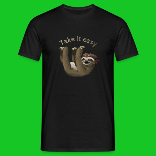 Take it easy,Luiaard heren t-shirt - Mannen T-shirt