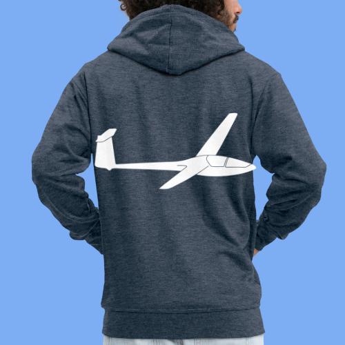 Glasflügel Kestrel Segelflugzeug Segelflieger Geschenk Tshirt - Men's Premium Hooded Jacket