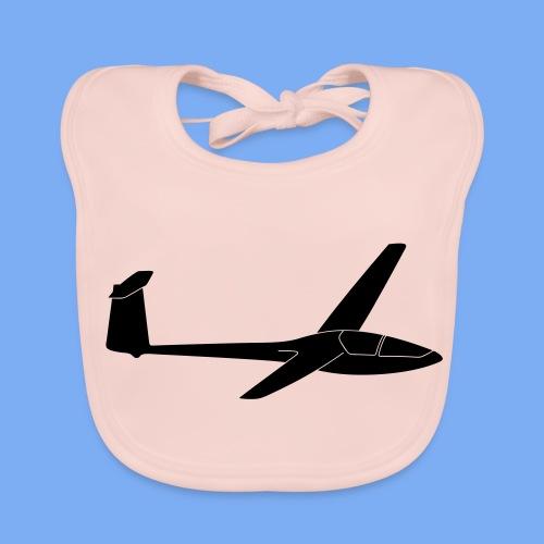 Glasflügel Kestrel Segelflugzeug Segelflieger Geschenk Tshirt - Baby Organic Bib