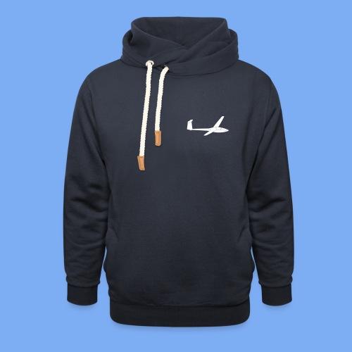 Glasflügel Kestrel Segelflugzeug Segelflieger Geschenk Tshirt - Shawl Collar Hoodie