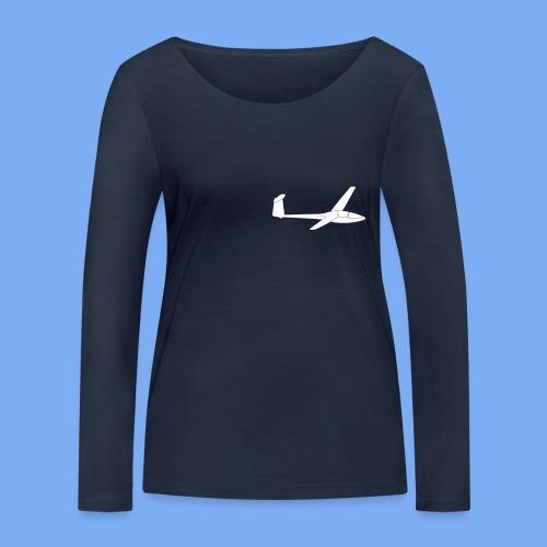 Glasflügel Kestrel Segelflugzeug Segelflieger Geschenk Tshirt - Women's Organic Longsleeve Shirt by Stanley & Stella