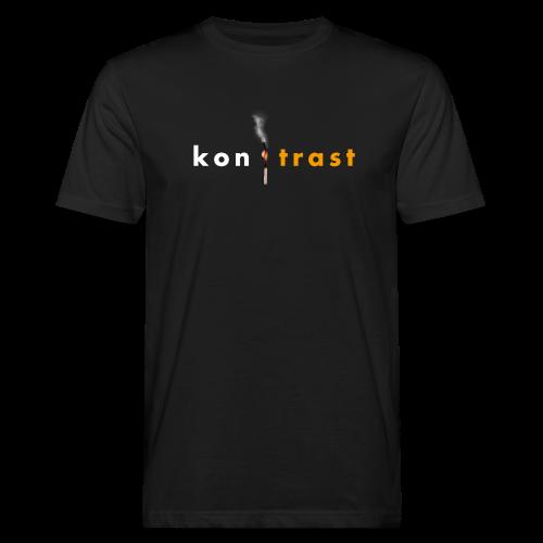 kontrast Jungs-Bio-T-Shirt mit Streichholz-Motiv Vorderseite (Digitaldruck) - Männer Bio-T-Shirt