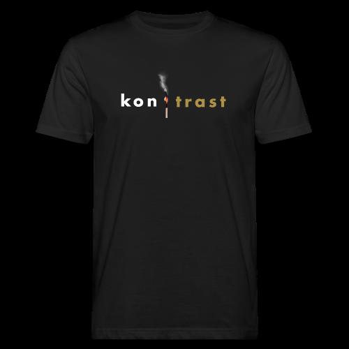 kontrast Jungs-Bio-T-Shirt mit Streichholz-GLITZER-Motiv Vorderseite - Männer Bio-T-Shirt
