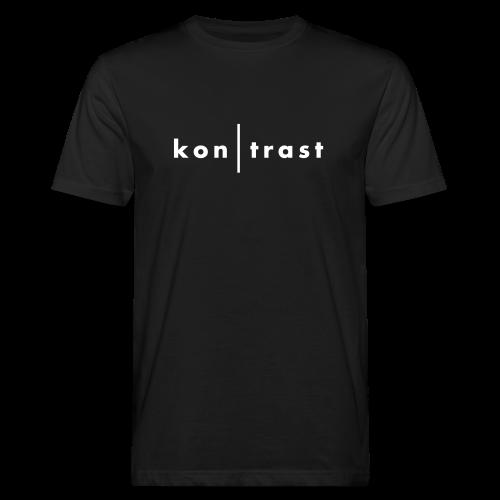 kontrast Jungs-Bio-T-Shirt kon|trast-Schriftzug mit weißem Flockdruck (samtig) auf Vorderseite - Männer Bio-T-Shirt