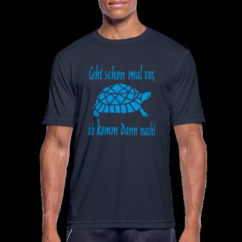 Geht schon mal vor Langsame Schildkröte Sport T-Shirt - Männer T-Shirt atmungsaktiv