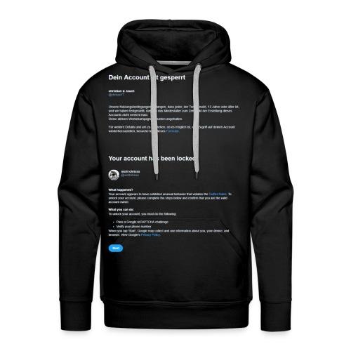 Twitter Lock - Hoodie - Men's Premium Hoodie