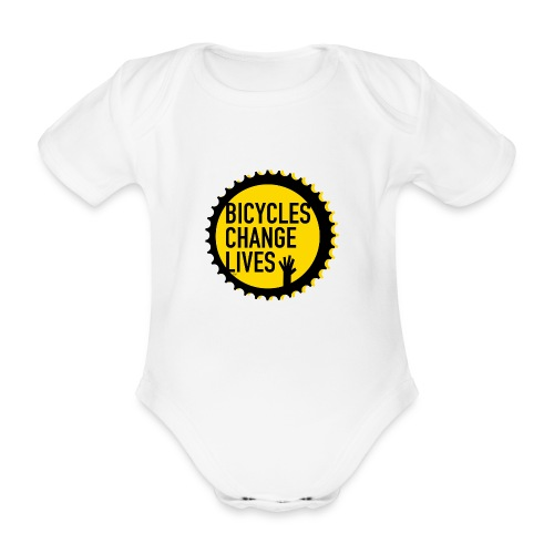 BCL Yellow Cog Babies - Organic Short-sleeved Baby Bodysuit