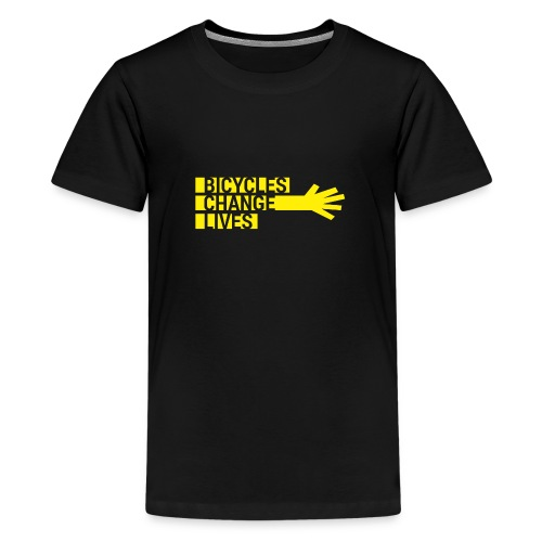 BCL Yellow Hand Teens - Teenage Premium T-Shirt
