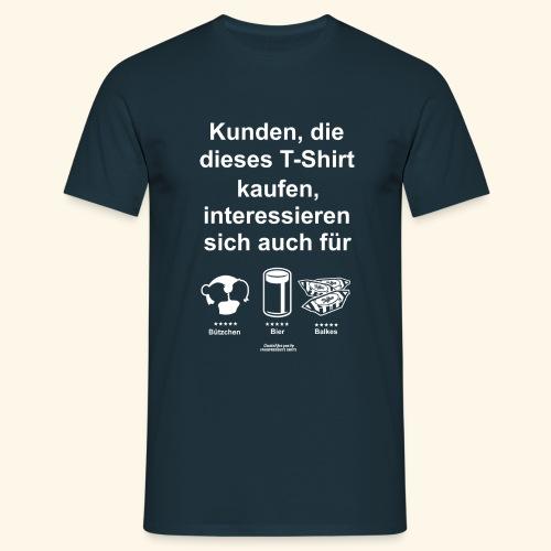 Karneval T Shirt Düsseldorf | Bier, Bützchen & Co. - Männer T-Shirt