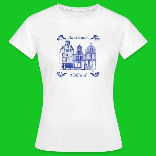 Grachtenpanden Delfts Blauw dames t-shirt - Vrouwen T-shirt