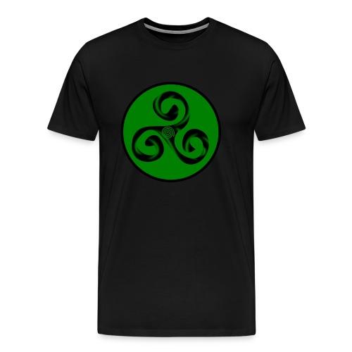 Triskel and Spiral - Camiseta premium hombre