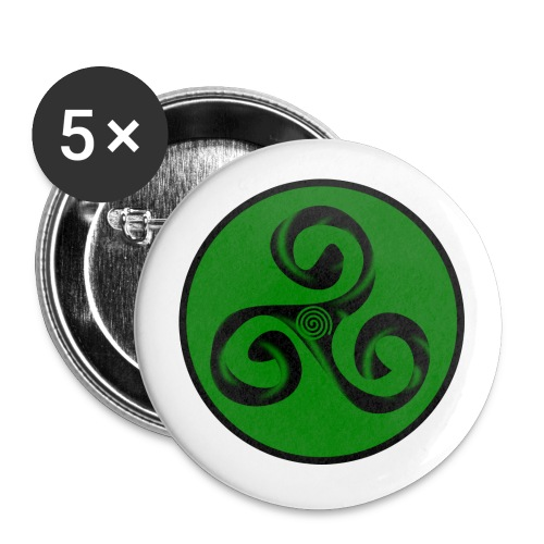 Triskel amd Spiral - Paquete de 5 chapas medianas (32 mm)