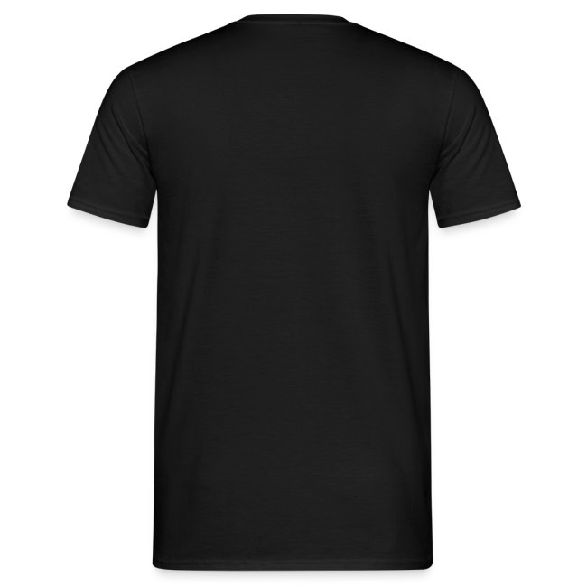 Onleesbare bandnaam mannen t-shirt