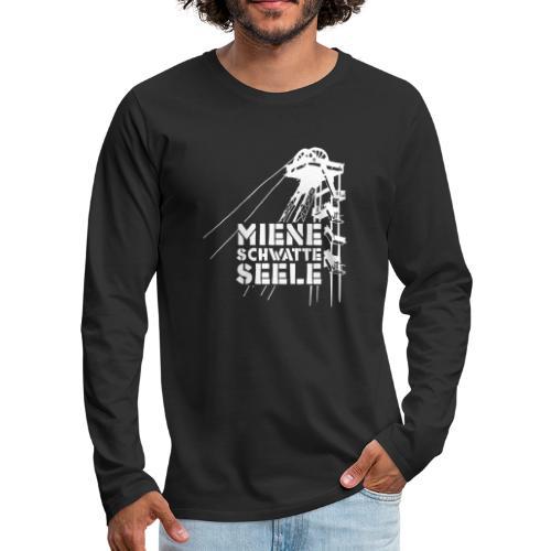 miene schwatte seele - Männer Premium Langarmshirt