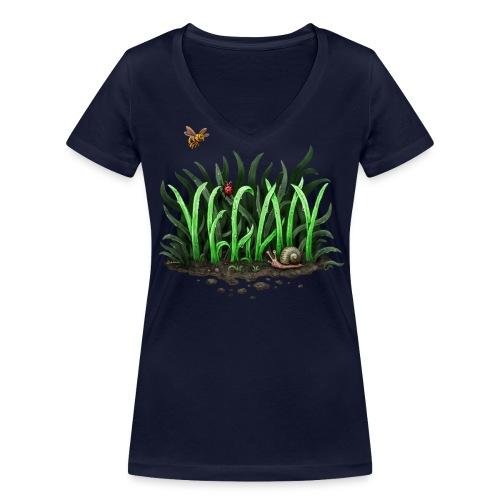 Grow Vegan (Girl/Bio-Shirt/V-Neck) - Frauen Bio-T-Shirt mit V-Ausschnitt von Stanley & Stella