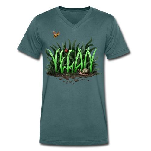 Grow Vegan (Bio-Shirt/V-Neck) - Männer Bio-T-Shirt mit V-Ausschnitt von Stanley & Stella