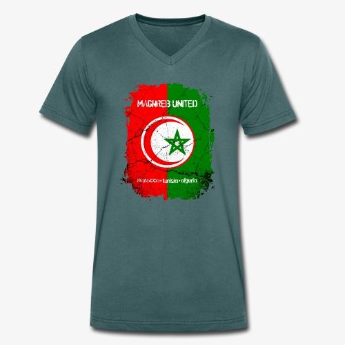 Männer Bio-T-Shirt mit V-Ausschnitt Maghreb United - Männer Bio-T-Shirt mit V-Ausschnitt von Stanley & Stella