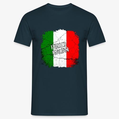Männer T-Shirt Proud Italian Stolzer Italiener Italienerin - Männer T-Shirt