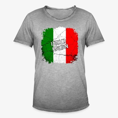 Männer Vintage T-Shirt Proud Italian Stolzer Italiener Italienerin - Männer Vintage T-Shirt