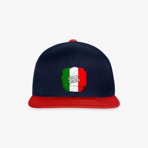 Snapback Cap Proud Italian Stolzer Italiener Italienerin - Snapback Cap