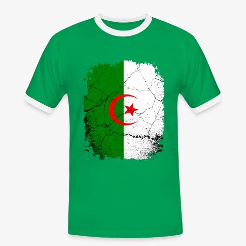 Männer Kontrast T-Shirt Algerien - Männer Kontrast-T-Shirt