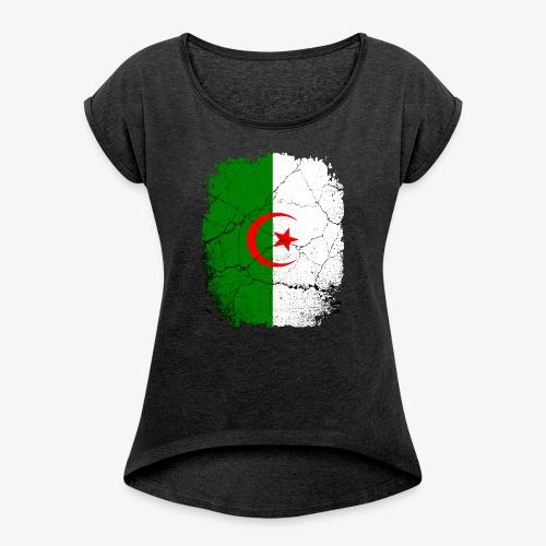 Frauen T-Shirt mit gerollten Ärmeln Algerien - Frauen T-Shirt mit gerollten Ärmeln
