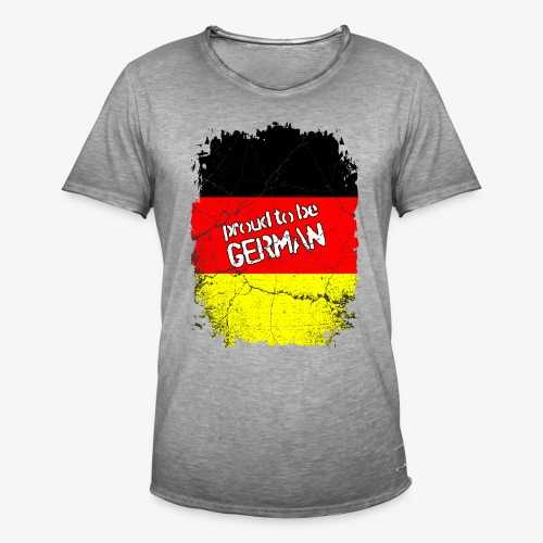 Männer Vintage T-Shirt Proud to be german Stolzer Deutscher - Männer Vintage T-Shirt