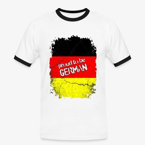 Männer Kontrast T-Shirt Proud to be german Stolzer Deutscher - Männer Kontrast-T-Shirt