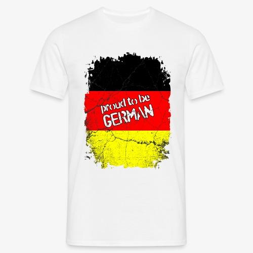 Männer T-Shirt Proud to be german Stolzer Deutscher - Männer T-Shirt