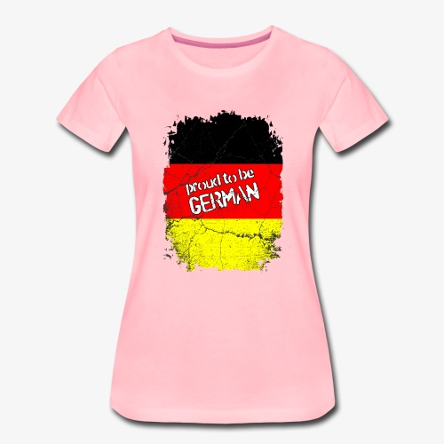 Frauen Premium T-Shirt Proud to be german Stolzer Deutscher - Frauen Premium T-Shirt