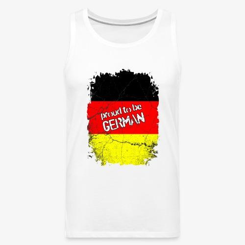 Männer Premium Tank Top Proud to be german Stolzer Deutscher - Männer Premium Tank Top
