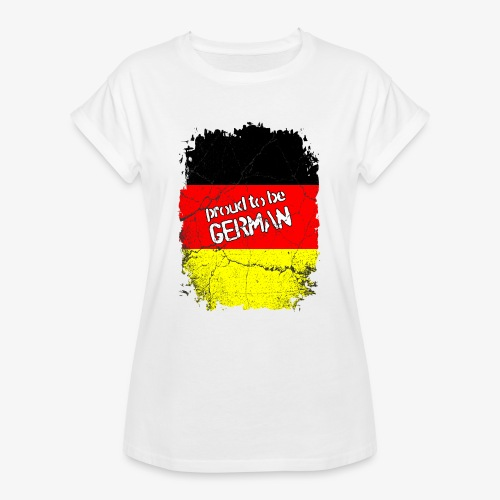 Frauen Oversize T-Shirt Proud to be german Stolzer Deutscher - Frauen Oversize T-Shirt