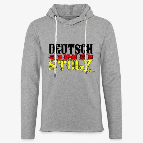 Leichtes Kapuzensweatshirt Unisex Deutsch und Stolz - Leichtes Kapuzensweatshirt Unisex