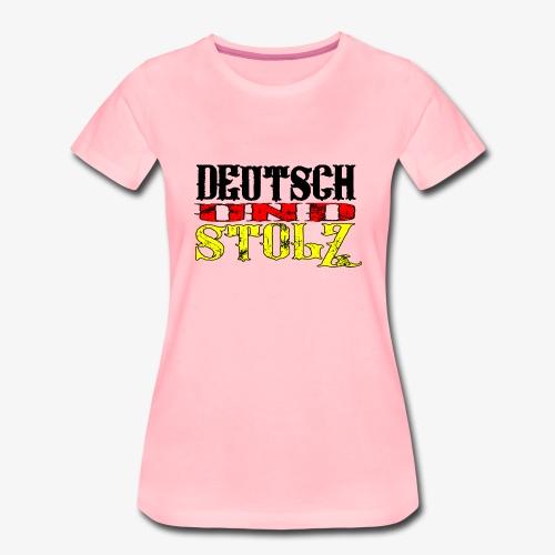 Frauen Premium T-Shirt Deutsch und Stolz - Frauen Premium T-Shirt