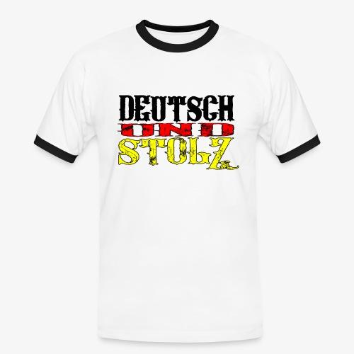 Männer Kontrast T-Shirt Deutsch und Stolz - Männer Kontrast-T-Shirt