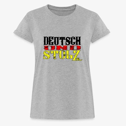 Frauen Oversize T-Shirt Deutsch und Stolz - Frauen Oversize T-Shirt