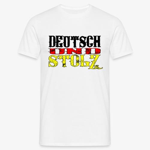Männer T-Shirt Deutsch und Stolz - Männer T-Shirt