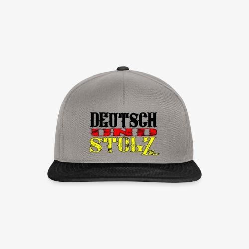 Snapback Cap Deutsch und Stolz - Snapback Cap
