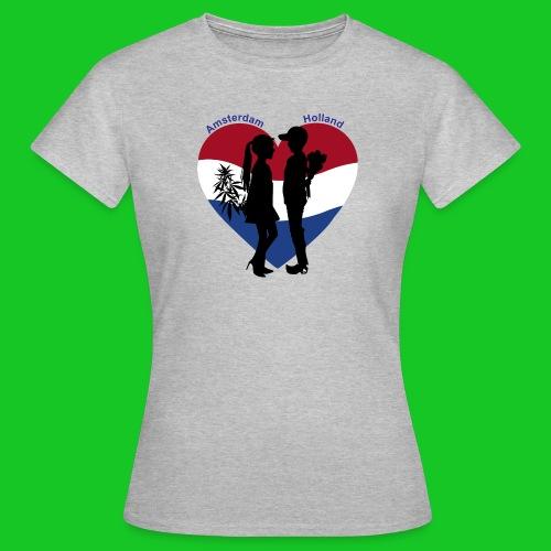 Amsterdam loves Holland dames t-shirt - Vrouwen T-shirt