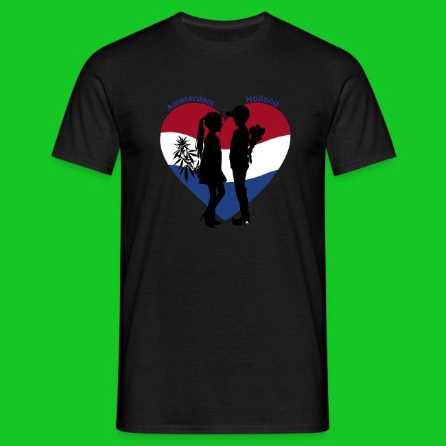 Amsterdam loves Holland heren t-shirt