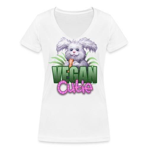 Vegan Cutie (Girl/Bio-V-Neck) - Frauen Bio-T-Shirt mit V-Ausschnitt von Stanley & Stella