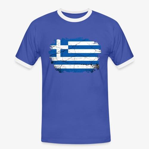 Männer Kontrast T-Shirt Griechenland - Männer Kontrast-T-Shirt
