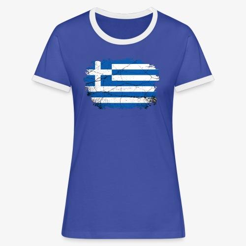 Frauen Kontrast T-Shirt Griechenland - Frauen Kontrast-T-Shirt