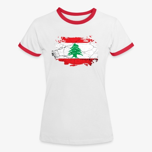 Frauen Kontrast T-Shirt Libanon - Frauen Kontrast-T-Shirt