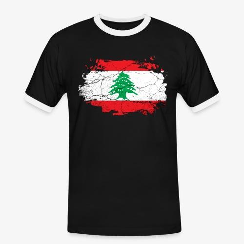 Männer Kontrast T-Shirt Libanon - Männer Kontrast-T-Shirt