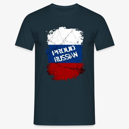 Männer T-Shirt proud russian Stolzer Russe Stolze russin - Männer T-Shirt