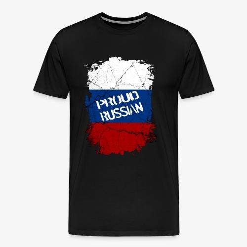 Männer Premium T-Shirt proud russian Stolzer Russe Stolze russin - Männer Premium T-Shirt
