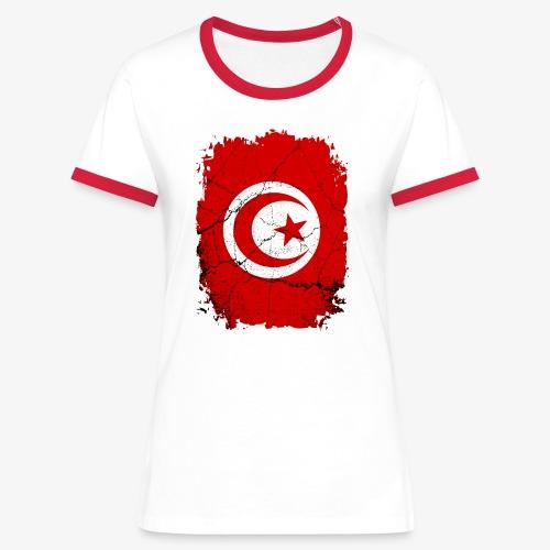 Frauen Kontrast-T-Shirt Tunesien - Frauen Kontrast-T-Shirt