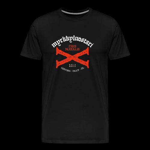Dies Natalis X etikettipaita, ISO logo - Miesten premium t-paita